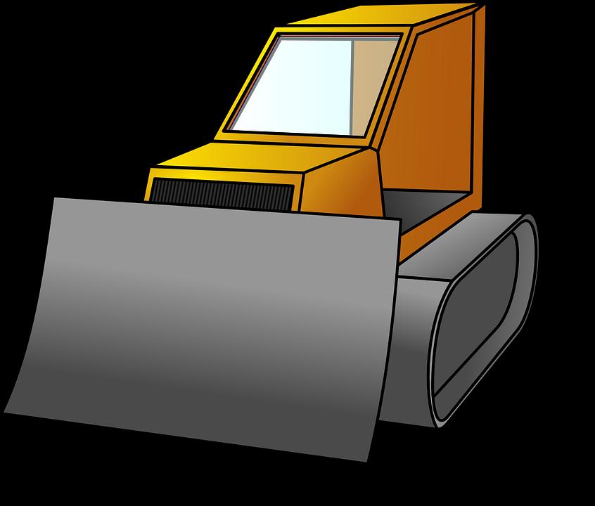 Bulldozer, Vehicle, Construction Site, Industry