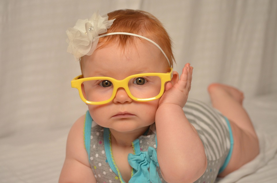 Baby, Glasses, Cute, Happy, Child, Kid, Infant