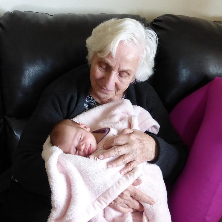 Infant, Newborn, Grandmother, Grandparents
