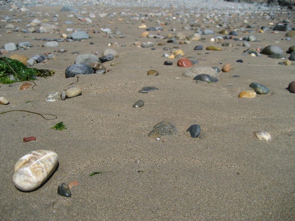 Beach, Pebble, Horizon, Infinite