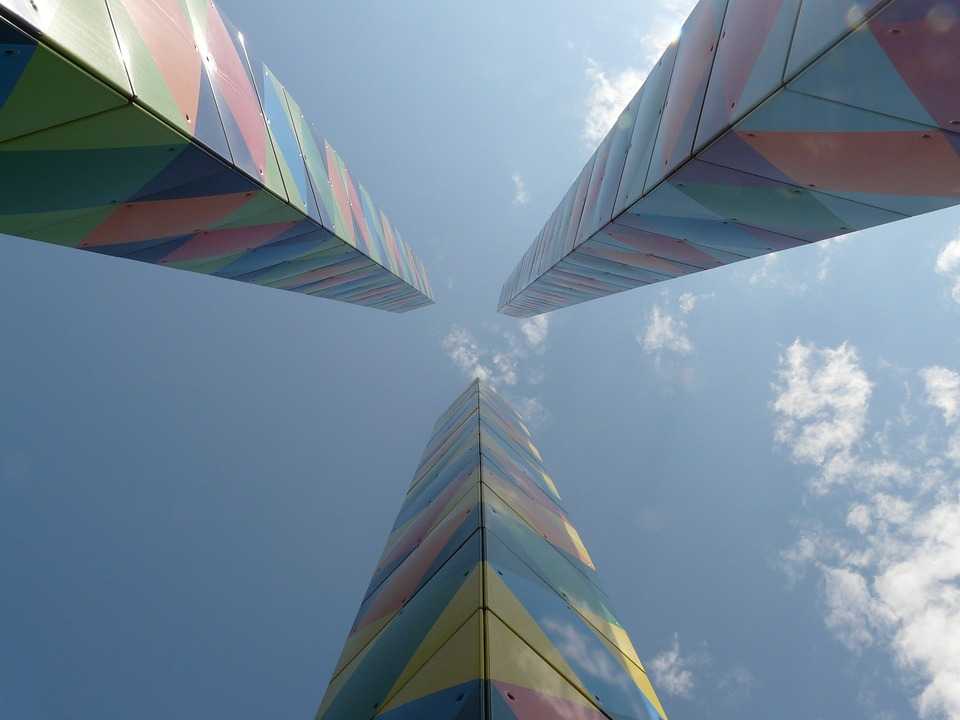 Artwork, Columnar, Art, Colorful, Sky, Infinite, Top