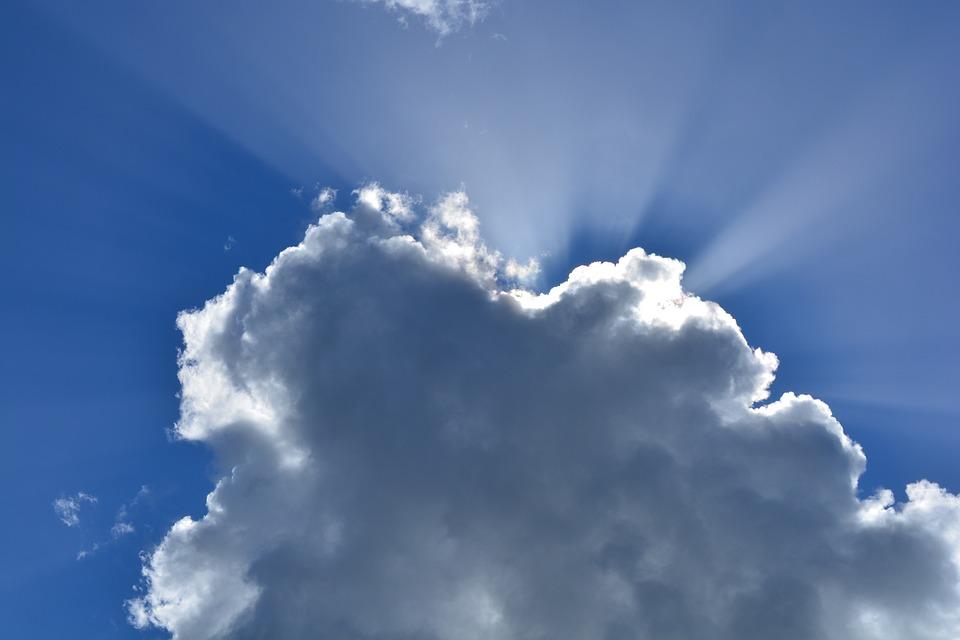 Sky, Blue, White, Clouds, Infinity, Optimistic, Cloud