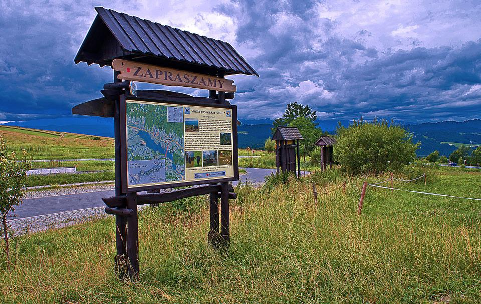 Information Board, Storm Clouds, Clouds, Tatry, Podhale