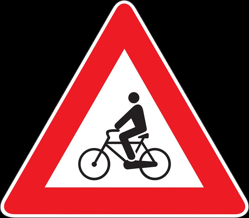 Road, Information, Drive, Car, Warning, Bicycles