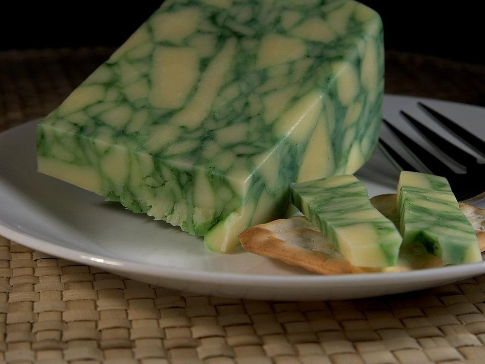 Sage Derby Cheese, Milk Product, Food, Ingredient, Eat