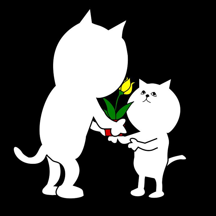 Gift, Inheritance, Parent Child, Cat, Cartoon