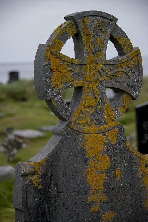 Grave, Celtic Cross, Cemetery, Ireland, Inisheer