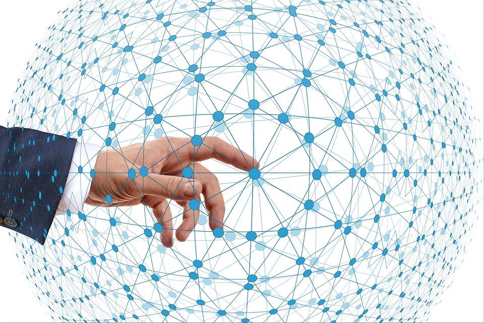 Network, Business, Start, Hand, Finger, Initialization