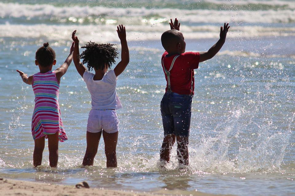 Children, South Africa, Water, Inject, Beach, Sea