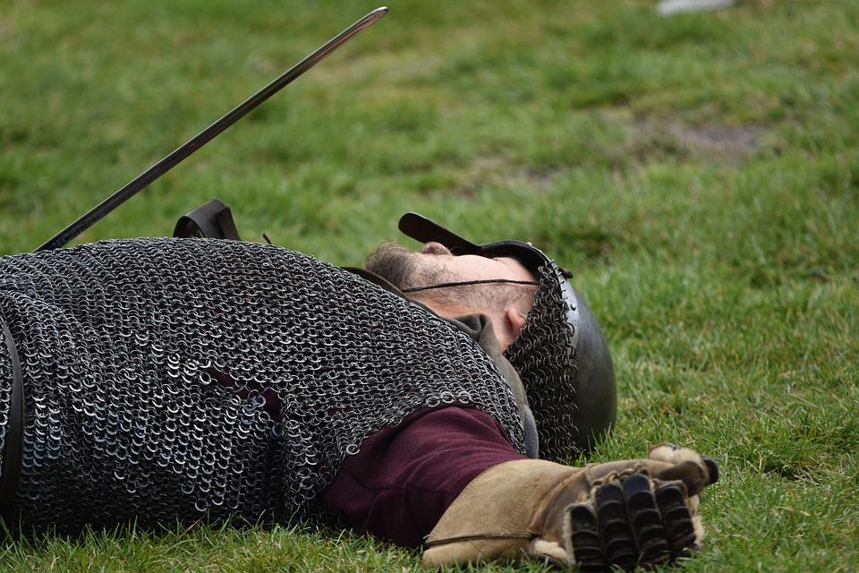 Warrior, Fallen, Combat, Dead, Injured, Viking