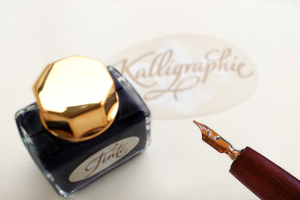 Feather, Write, Ink, Inkwell, Pen, Calligraphy, Letters