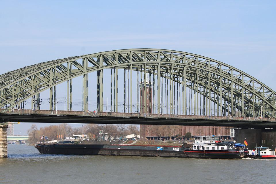 Hohenzollern Bridge, Cologne, Inland Waterway Transport