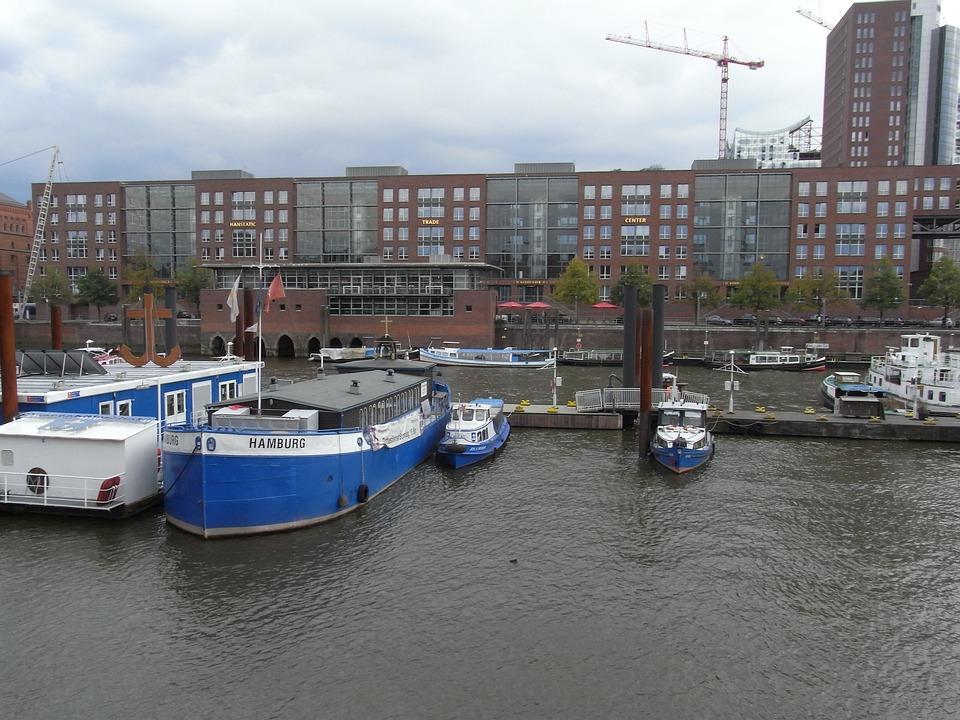 Hamburg, Harbour, Port, Innenalster, Germany, Water