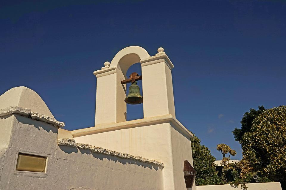 Bell, Tower, Dome, Bell Tower, Lanzarote, Input