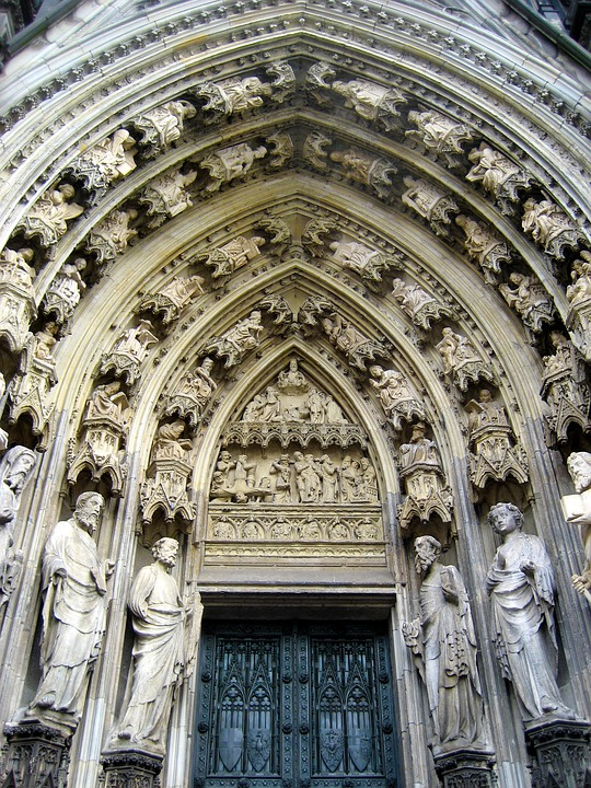 Cologne Cathedral, Facade, Input, Church, Architecture