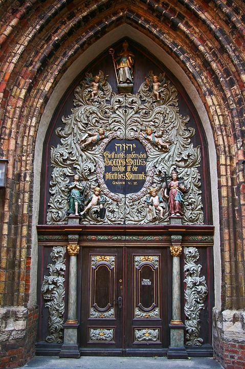 Nikolai Church In Stralsund, Input, Churches Entrance