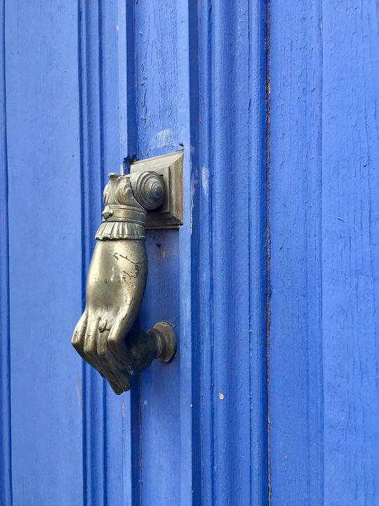 Free Photo Input Door Front Door Door Knob Decorative Blue Max Pixel