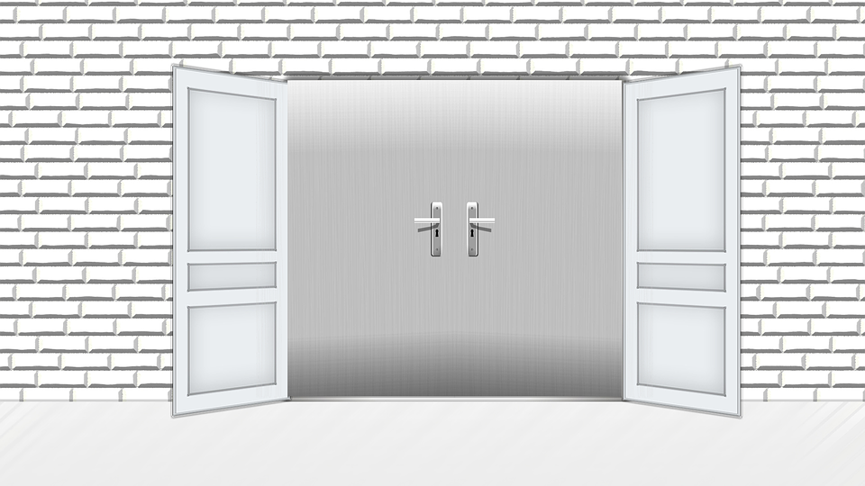 Door, White, Input, Goal, House, Building, Stone, Wall