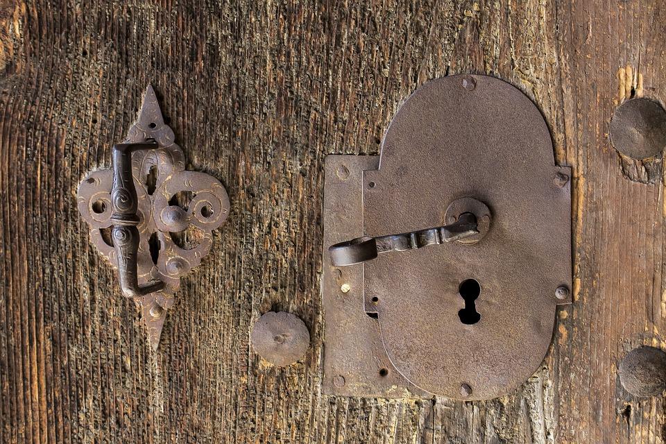 Door, Door Handle, Old, Historically, Input