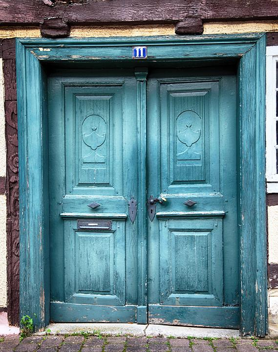 Door, Oak Door, Old, Middle Ages, Input