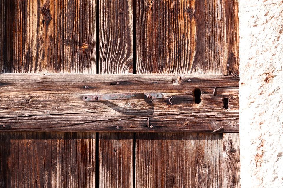 Door, Old, Wood, Old Door, Input, Handle, Iron, Stone