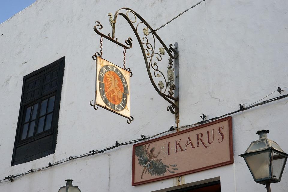 Gasthof, Old Sign, Lantern, Input