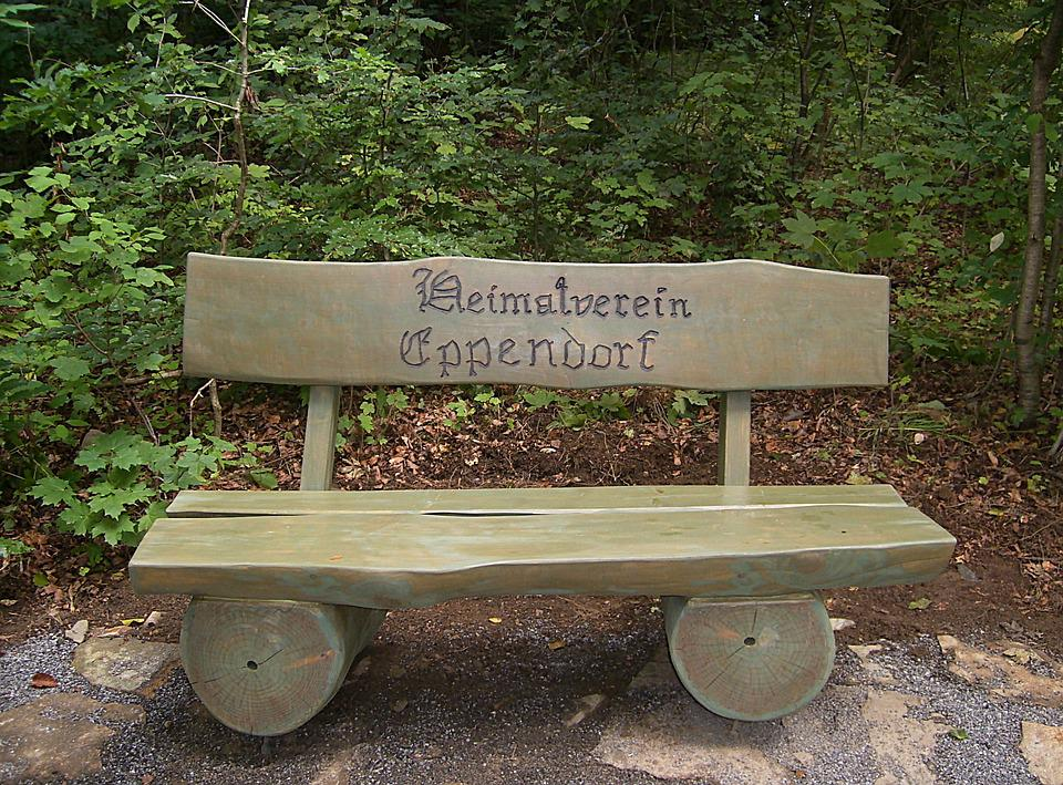 Bank, Wooden Bench, Inscription, Forest, Nature, Bench