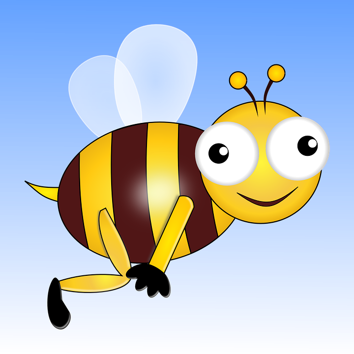 Bee, Insect, Wasp, Honeybee, Wings, Eyes, Flying, Happy