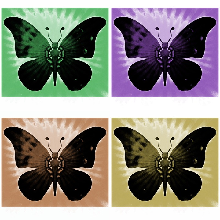 Butterflies, Insects, Background, Abstract, Decorative