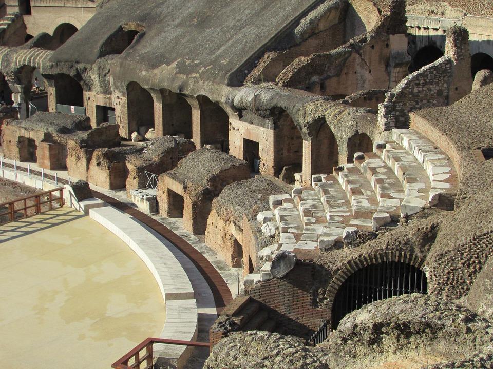 Colosseum, Inside, Rome, Roma, Italy, Landmark, Roman