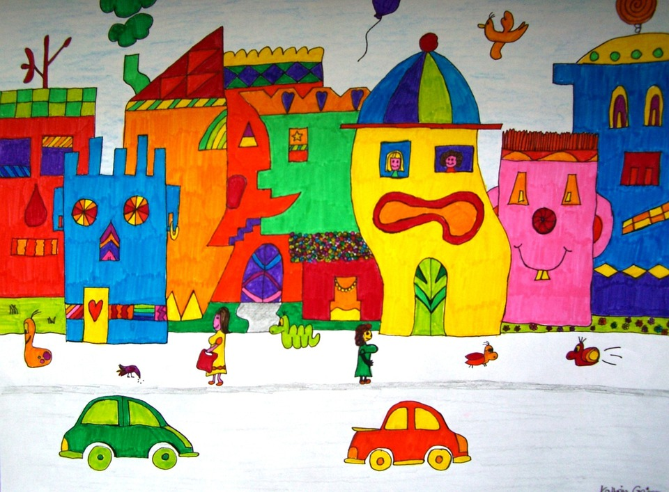 Image, Painted, Colorful, Color, James Rizzi, Inspired