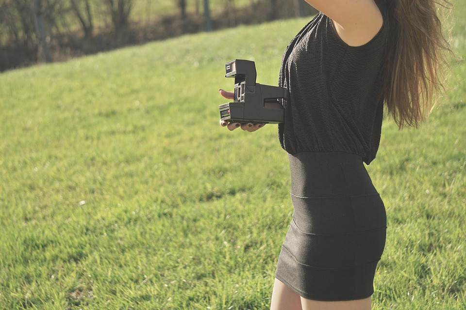 Polaroid, Instant, Instant Camera, Woman, Camera