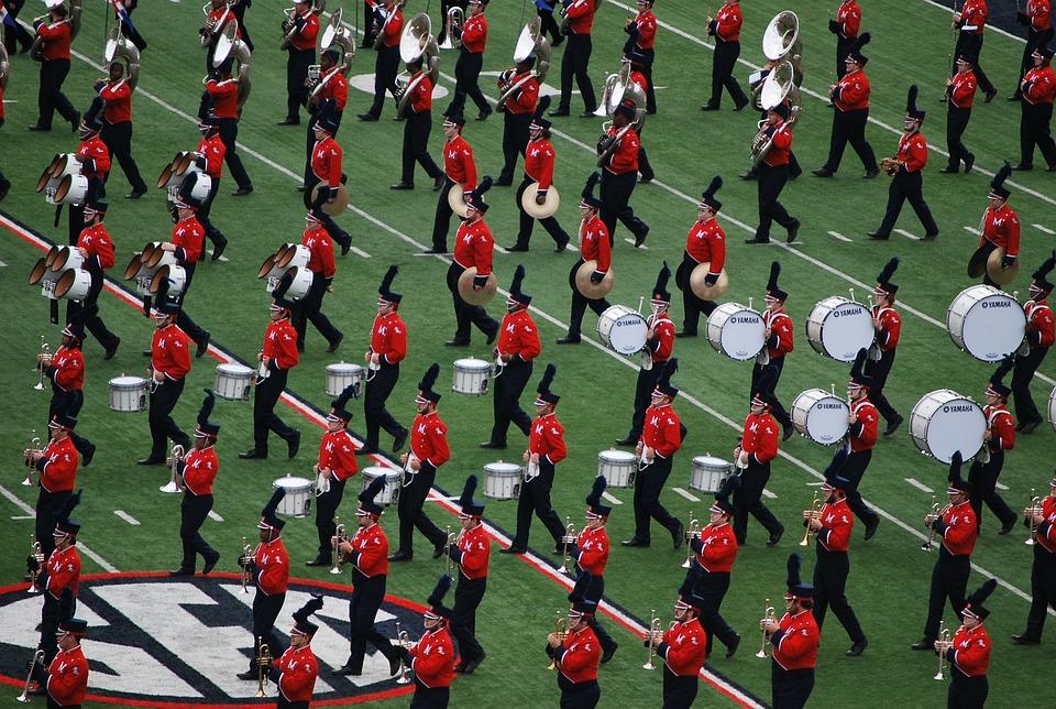 Band, Marching, Drum, Uniform, Music, Instrument