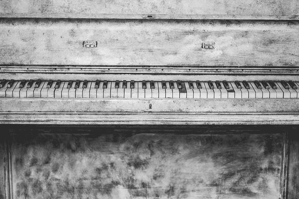 Piano, Instrument, Music, Keys, Notes, Old, Vintage