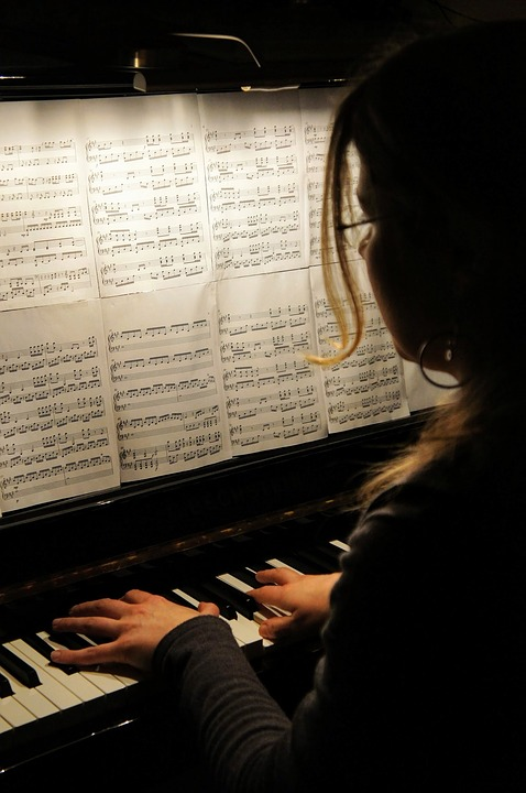 Piano, Playing The Piano, Piano Player, Instrument