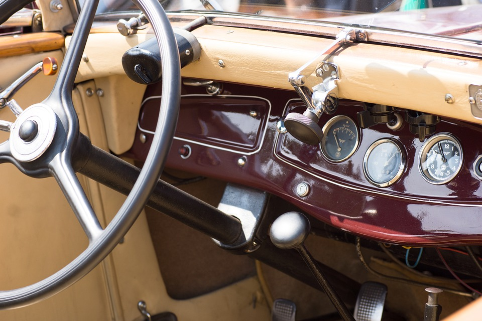 Auto, Oldtimer, Classic, Instruments, Ad