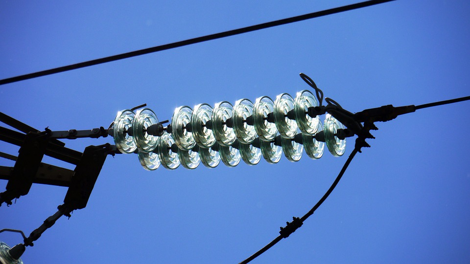 Transmission Line, High Voltage, Glass, Insulators