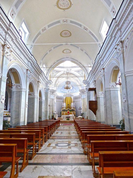 Church, Interior, Cathedral, Chapel, Building, Aisle