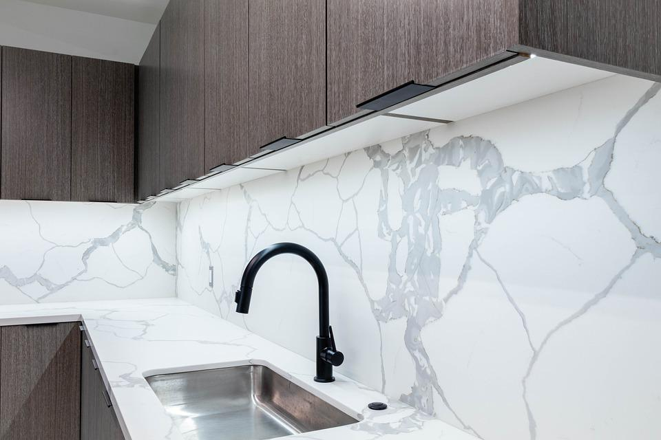 Kitchen, Faucet, Cabinets, Sink, Countertop, Interior