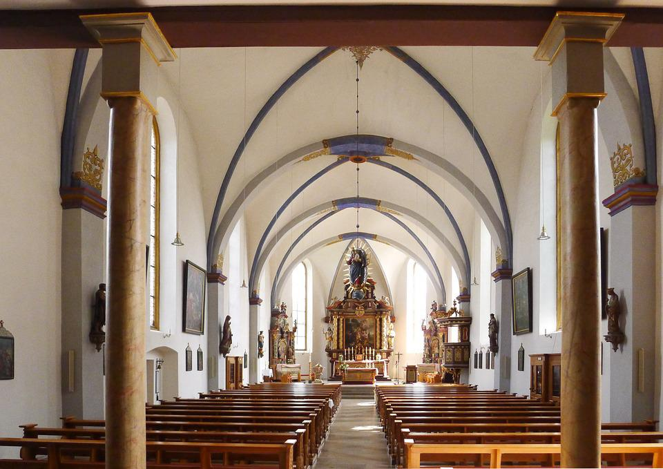 Beverungen, Church, Interior, Religious, Christian
