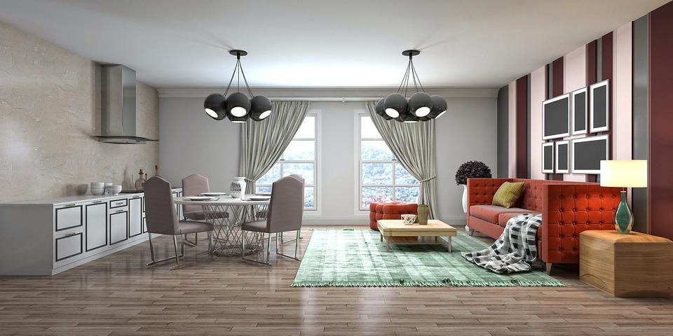 Room, Interior Design, 3d Rendered, 3d Rendering, Decor