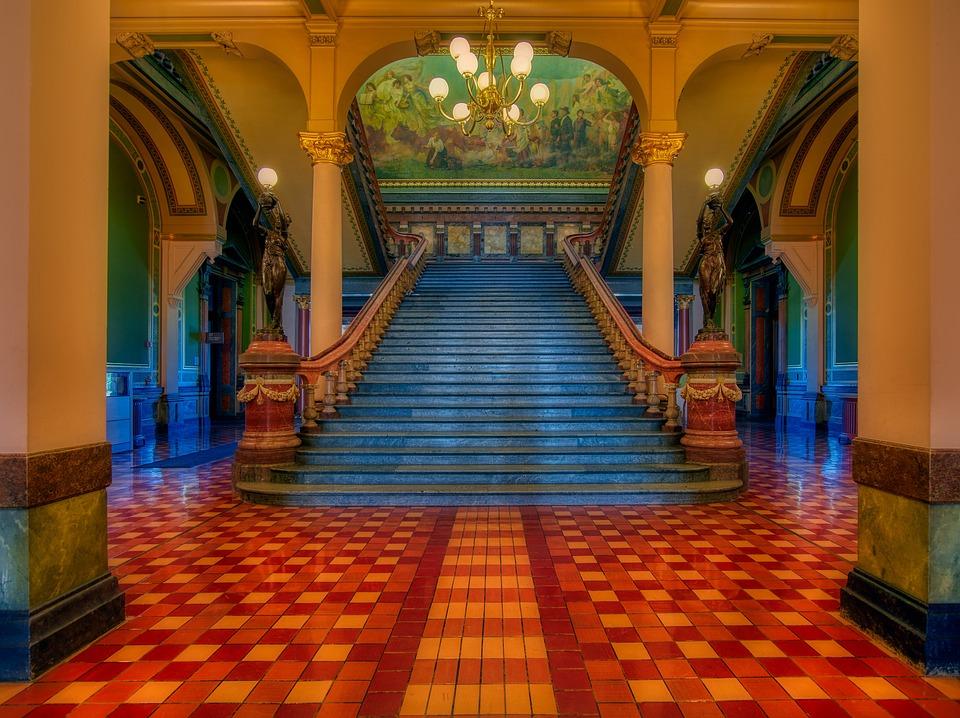 Grand Staircase, Iowa State Capitol, Inside, Interior