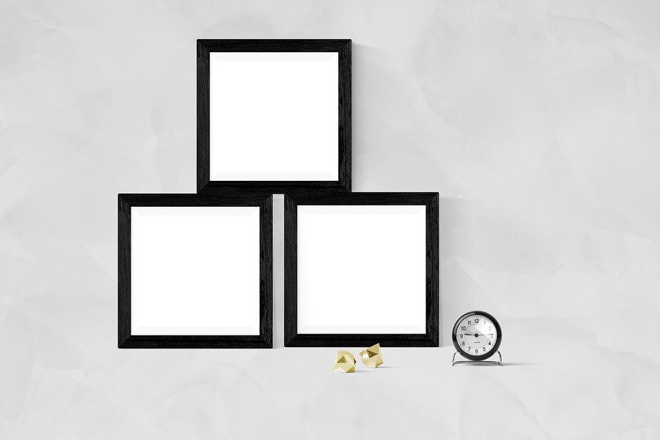 Free photo Interior Mockup Template Poster Frame Blank Wall - Max Pixel