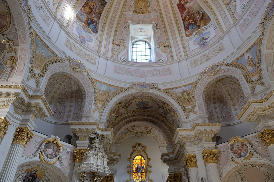 Church, Interior, Architecture, Places Of Interest