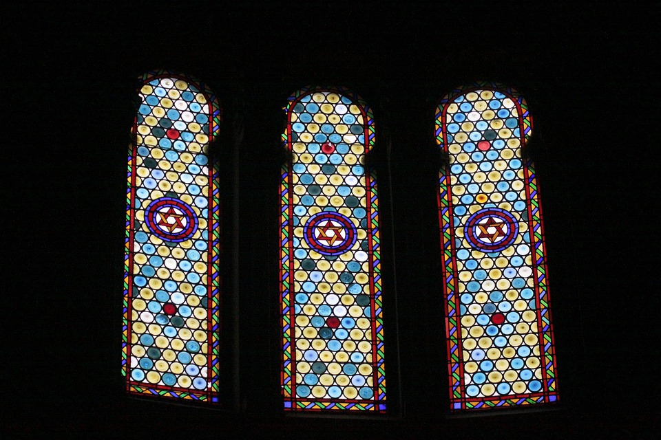 Synagogue, Religion, Faith, Window, Mosaic, Interior
