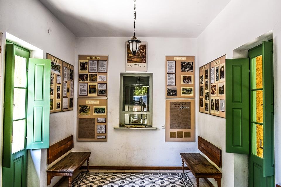 Railway Station, Interior, Ticket Room, Old, Vintage