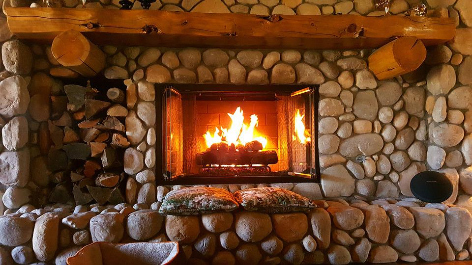 Fireplace, Fire, Home, Interior, Warm, Place, Room
