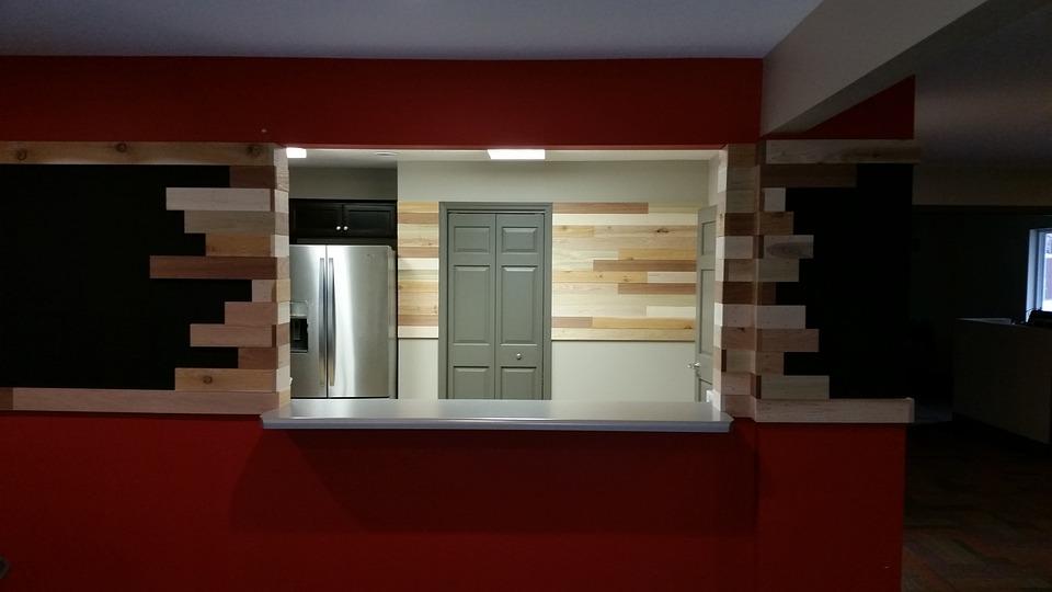 Interior, Cafe, Abstract, Counter, Wooden, Design