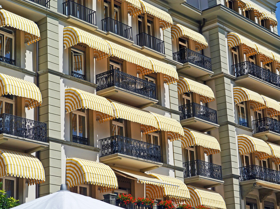 Interlaken, Grand Hotel, Landmark, Balconies