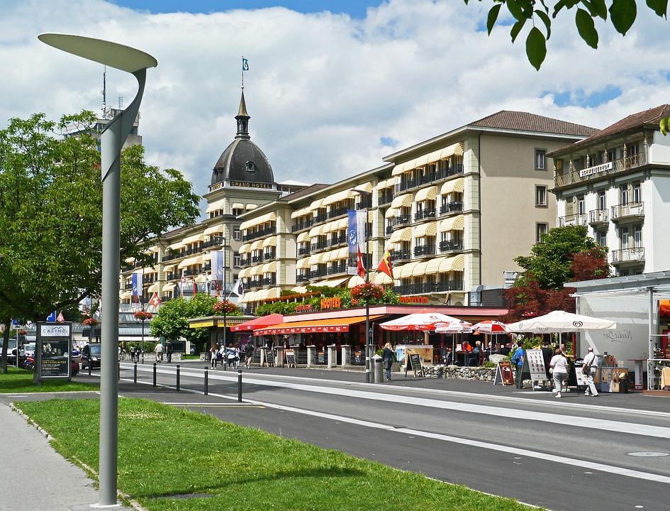 Switzerland, Interlaken, Grand Hotel, Landmark